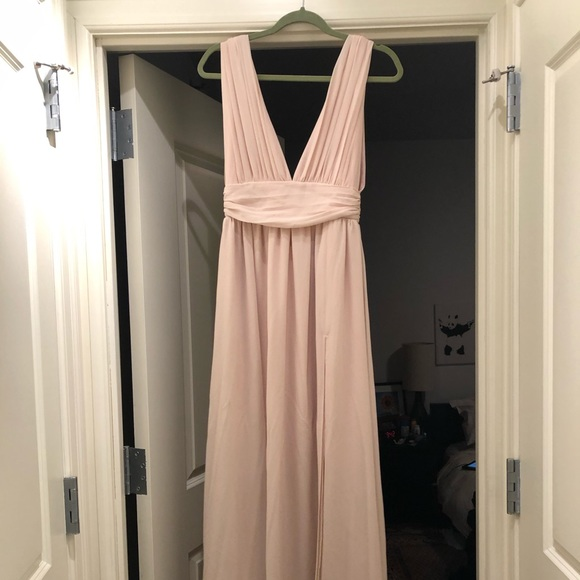 Lulu's Dresses & Skirts - Beige formal dress